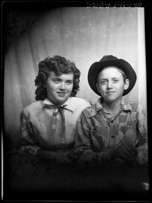 Primary view of object titled '[Portrait of a Boy and a Girl]'.