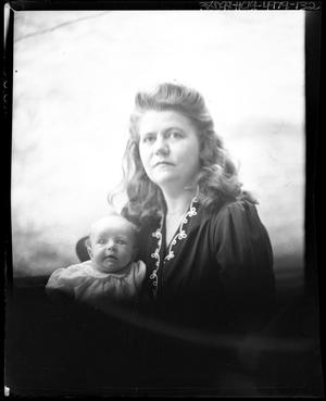 Primary view of object titled '[Portrait of a Woman and a Baby]'.