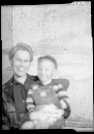 Primary view of object titled '[Portrait of a Woman and a Child]'.
