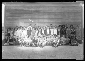 Primary view of object titled '[Portrait of Seventeen Boys, Thirty-Nine Girls, and Two Men]'.