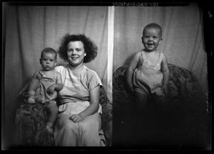 Primary view of object titled '[Portraits of a Woman and a Baby]'.