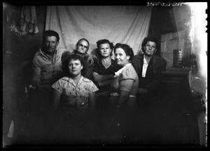 Primary view of object titled '[Portrait of a Man and Five Women]'.