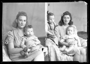 Primary view of object titled '[Portraits of Two Women and Three Babies]'.