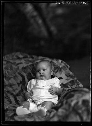 Primary view of object titled '[Portrait of Baby on Blanket]'.