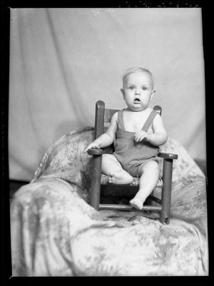 Primary view of object titled '[Portrait of Baby in Chair]'.