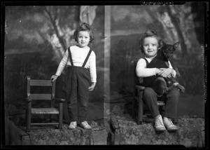 Primary view of object titled '[Portraits of Girl and Dog]'.
