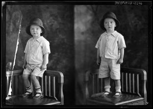 Primary view of object titled '[Portraits of Boy in Hat]'.