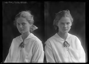 Primary view of object titled '[Portraits of Girl]'.
