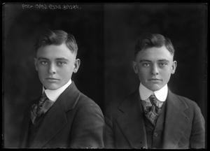 Primary view of object titled '[Portraits of Young Man]'.
