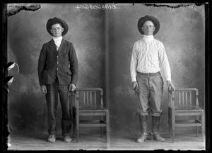 Primary view of object titled '[Portraits of Men in Cowboy Hats]'.