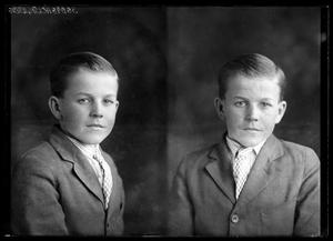 Primary view of object titled '[Portraits of Boy in Suit]'.