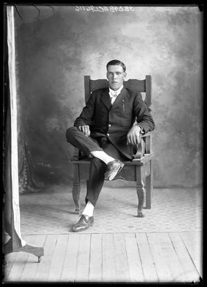 Primary view of object titled '[Portrait of Man Sitting]'.