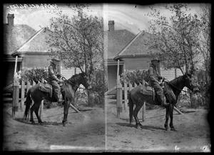 Primary view of object titled '[Man on Horse]'.