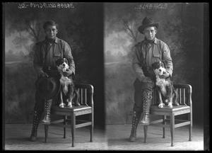 Primary view of object titled '[Portraits of Man and Dog]'.