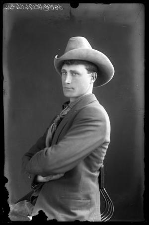 Primary view of object titled '[Portrait of Young Man in Hat]'.