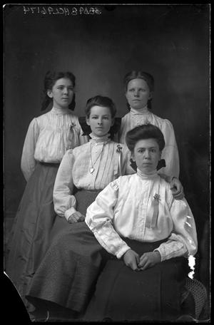 Primary view of object titled '[Portrait of Four Women]'.