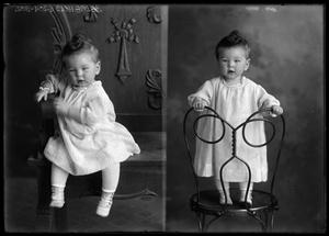 Primary view of object titled '[Portraits of Baby]'.