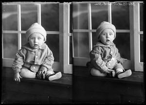 Primary view of object titled '[Portraits of Baby with Hat]'.