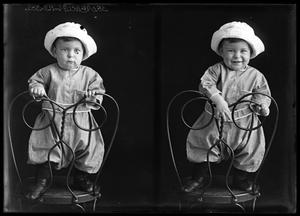 Primary view of object titled '[Portraits of Baby in Hat]'.