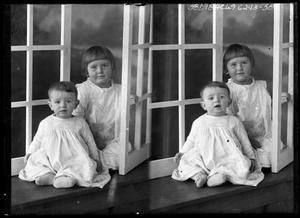 Primary view of object titled '[Portraits of Two Children]'.