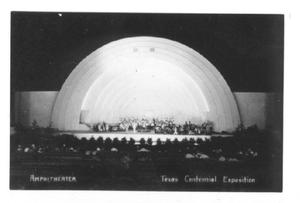 Primary view of object titled '[Amphitheatre, Texas Centennial Exposition]'.