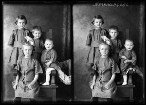 Primary view of object titled '[Portraits of Four Children]'.