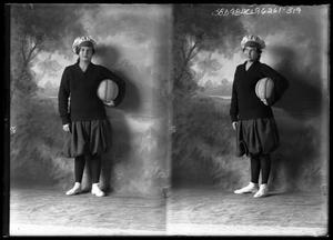 Primary view of object titled '[Portraits of Female Basketball Player]'.