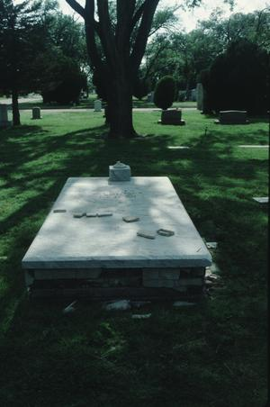 Primary view of object titled '[Llano Cemetery, (false crypt grave)]'.