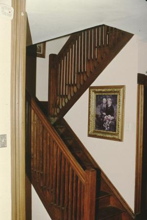 Primary view of object titled '[Lucas House, (interior stair)]'.