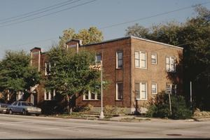 Primary view of object titled '[Lewis Apartment Building, (street facades)]'.