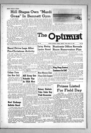 Primary view of object titled 'The Optimist (Abilene, Tex.), Vol. 39, No. 22, Ed. 1, Friday, March 14, 1952'.