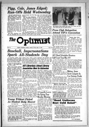 The Optimist (Abilene, Tex.), Vol. 38, No. 26, Ed. 1, Friday, May 2, 1952