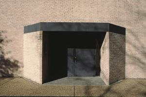 Primary view of object titled '[Rothko Chapel, (main entrance)]'.