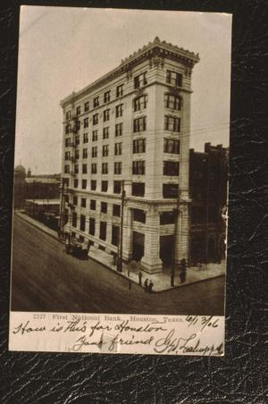 Primary view of object titled '[First National Bank Building]'.