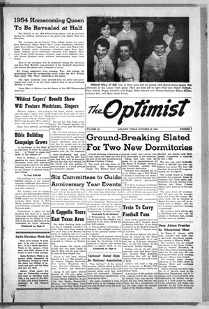 Primary view of object titled 'The Optimist (Abilene, Tex.), Vol. 42, No. 7, Ed. 1, Saturday, October 30, 1954'.