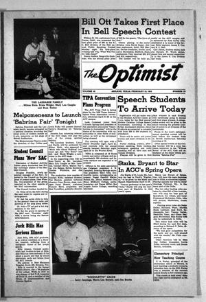 The Optimist (Abilene, Tex.), Vol. 42, No. 17, Ed. 1, Thursday, February 10, 1955