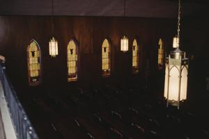 Primary view of object titled '[Morning Chapel C.M.E. Church, (view from balcony)]'.