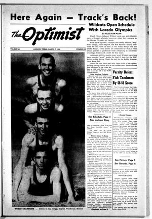 Primary view of object titled 'The Optimist (Abilene, Tex.), Vol. 45, No. 20, Ed. 1, Friday, March 7, 1958'.