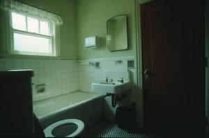 Primary view of object titled '[Polk St Methodist Church, (2nd floor bathroom)]'.