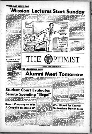 The Optimist (Abilene, Tex.), Vol. 46, No. 20, Ed. 1, Friday, February 20, 1959
