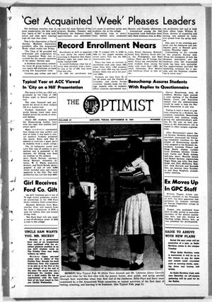 Primary view of object titled 'The Optimist (Abilene, Tex.), Vol. 47, No. 1, Ed. 1, Friday, September 18, 1959'.