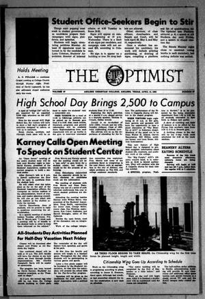 Primary view of object titled 'The Optimist (Abilene, Tex.), Vol. 47, No. 27, Ed. 1, Friday, April 15, 1960'.