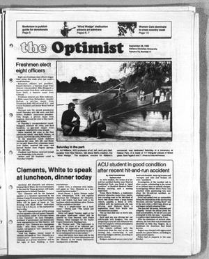 Primary view of object titled 'The Optimist (Abilene, Tex.), Vol. 70, No. 8, Ed. 1, Tuesday, September 28, 1982'.