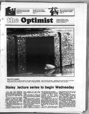 Primary view of object titled 'The Optimist (Abilene, Tex.), Vol. 70, No. 10, Ed. 1, Tuesday, October 5, 1982'.