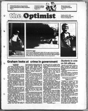 Primary view of object titled 'The Optimist (Abilene, Tex.), Vol. 70, No. 49, Ed. 1, Tuesday, April 5, 1983'.