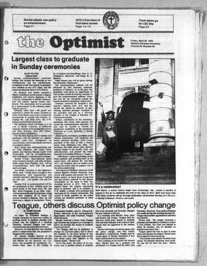 Primary view of object titled 'The Optimist (Abilene, Tex.), Vol. 70, No. 56, Ed. 1, Friday, April 29, 1983'.