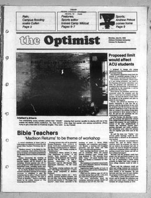 Primary view of object titled 'The Optimist (Abilene, Tex.), Vol. 70, No. 61, Ed. 1, Sunday, July 24, 1983'.