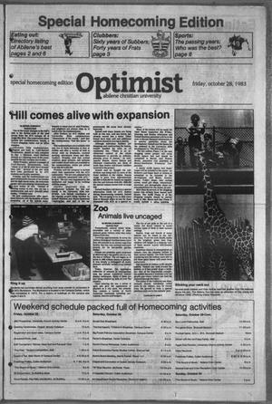 The Optimist (Abilene, Tex.), Vol. 71, No. 18, Ed. 1, Saturday, October 29, 1983