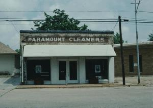 Primary view of object titled '[Paramount Cleaners, (front view of 605 E Lacy)]'.