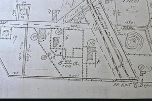 Primary view of object titled '[William Braxton Barr House, (site plan)]'.